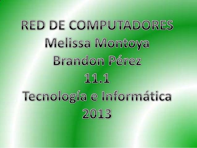 Es una interconexión de computadores para compartir información , recursos y servicios.