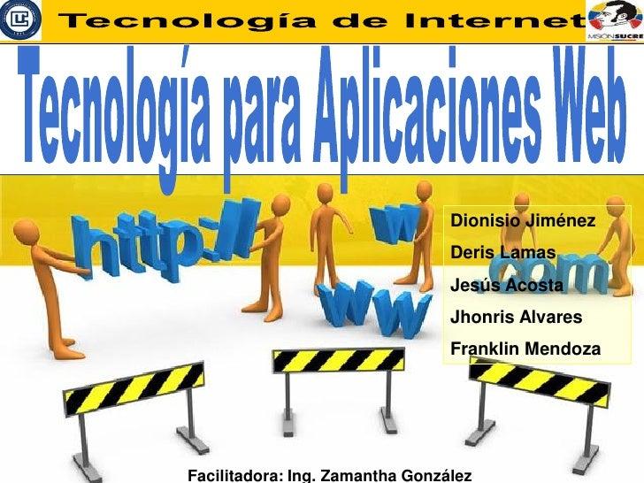 Tecnologia Aplicaciones Web