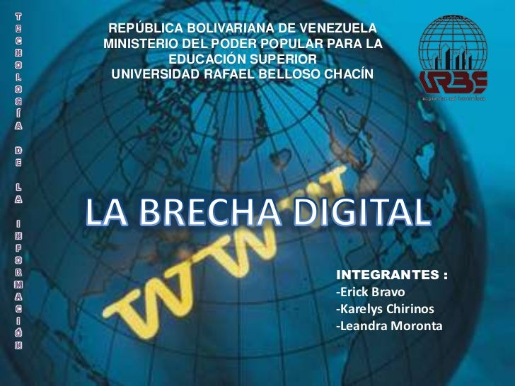 Tecnologíadelainformación<br />REPÚBLICA BOLIVARIANA DE VENEZUELA<br />MINISTERIO DEL PODER POPULAR PARA LA EDUCACIÓN SUPE...