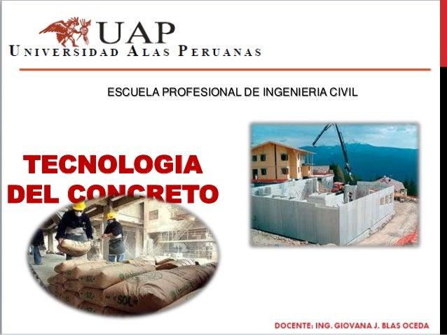 TECNOLOGIA DEL CONCRETO ESCUELA PROFESIONAL DE INGENIERIA CIVIL