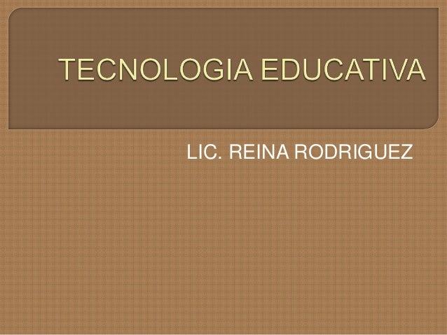 Tecnologia educativa i