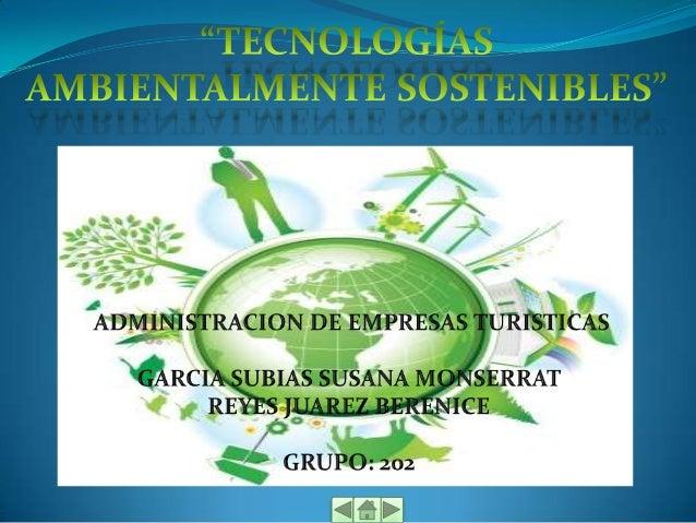 Tecnologias ambientales