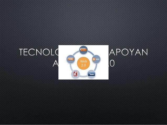 Tecnologias de la web 2.0 (1)