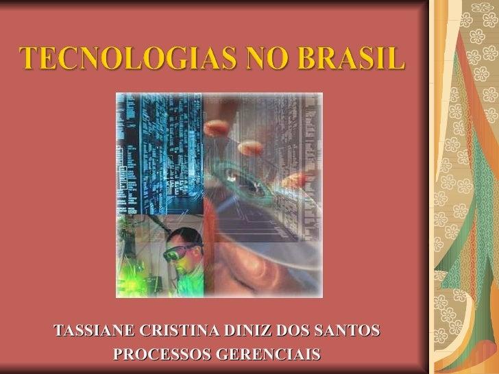TASSIANE CRISTINA DINIZ DOS SANTOS PROCESSOS GERENCIAIS
