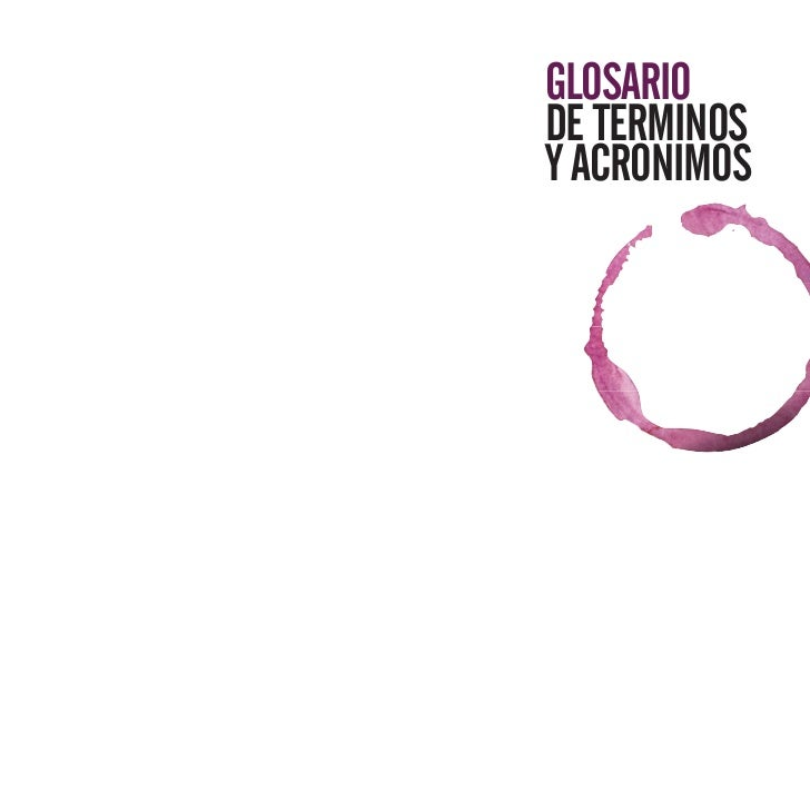 GLOSARIODE TERMINOSY ACRONIMOS