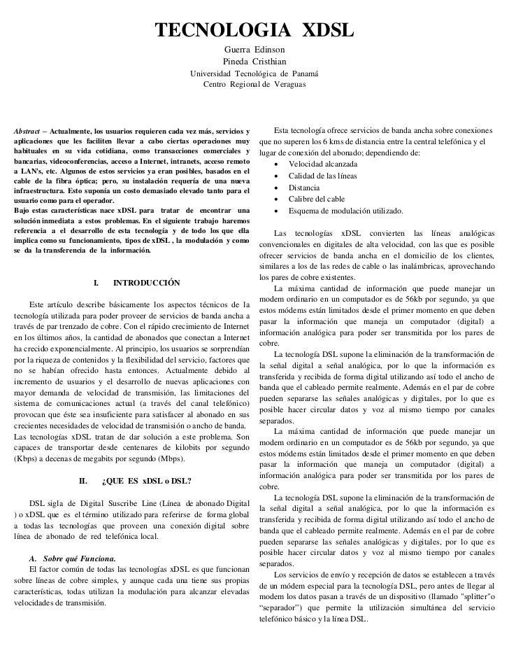TECNOLOGIA XDSL                                                                Guerra Edinson                             ...