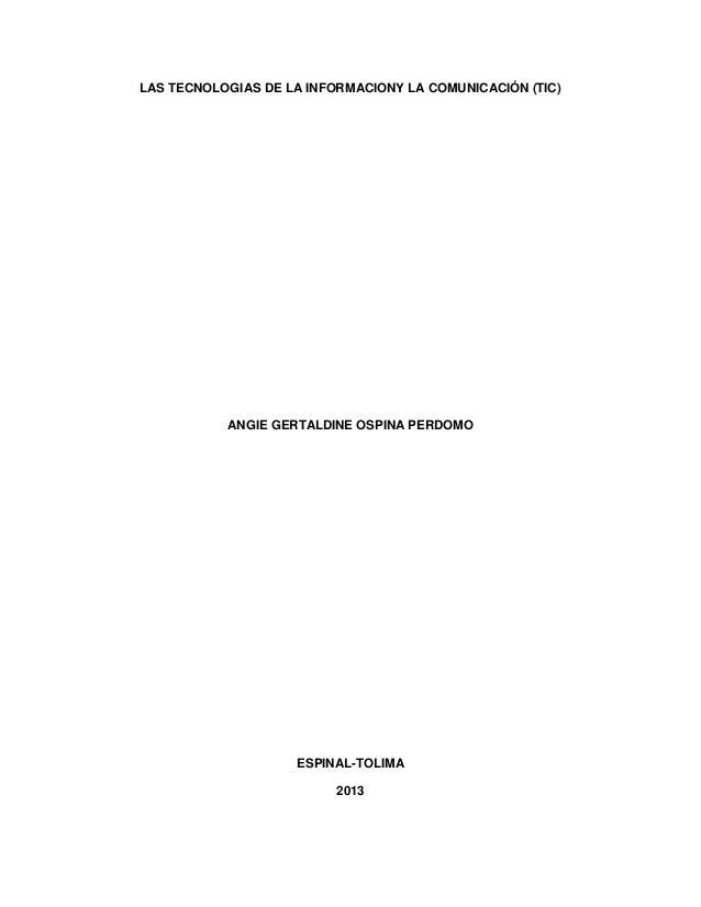 Tecnologia y comunicacion (tic) angie