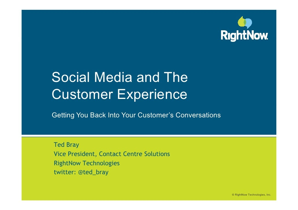 Ted   social media and the contact centre - nl