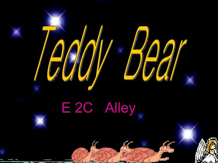 Teddy  Bear E 2C  Alley