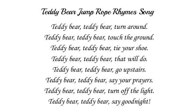 Teddy Bear Jump Rope Rhymes Song with Lyrics