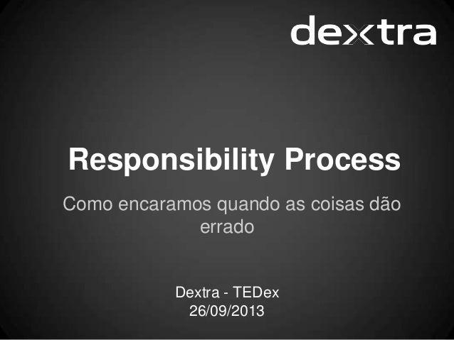 Responsibility Process Como encaramos quando as coisas dão errado Dextra - TEDex 26/09/2013