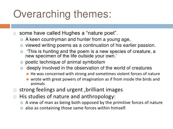 Ted Hughes themes