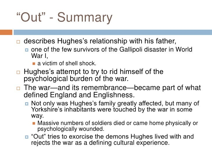 Ted Hughes view of a pig summary
