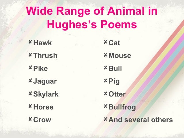 Ted Hughes animals
