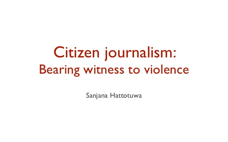 TED 2011: Using citizen journalism to bear witness to violence