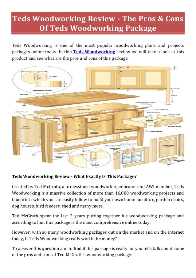 Teds Woodworking- 16,000 Woodworking Plans, Save Time & Money!