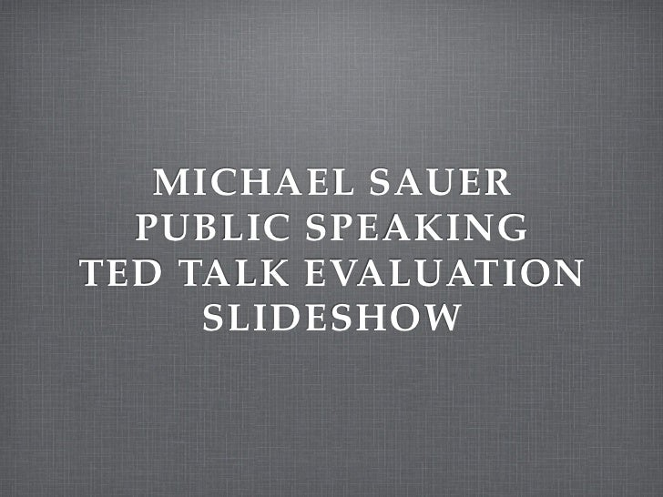 TED Talk Evaluation