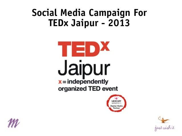 Social Media Campaign For TEDx Jaipur - 2013
