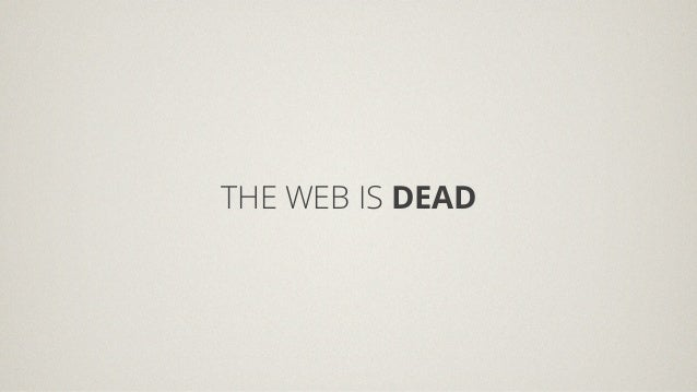 TEDx Thessaloniki - The web is dead?