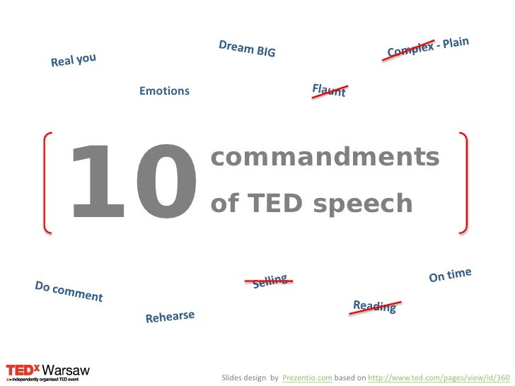 Complex - Plain<br />Real you<br />Dream BIG<br />Flaunt<br />Emotions<br />10<br />commandments<br />of TED speech<br />O...