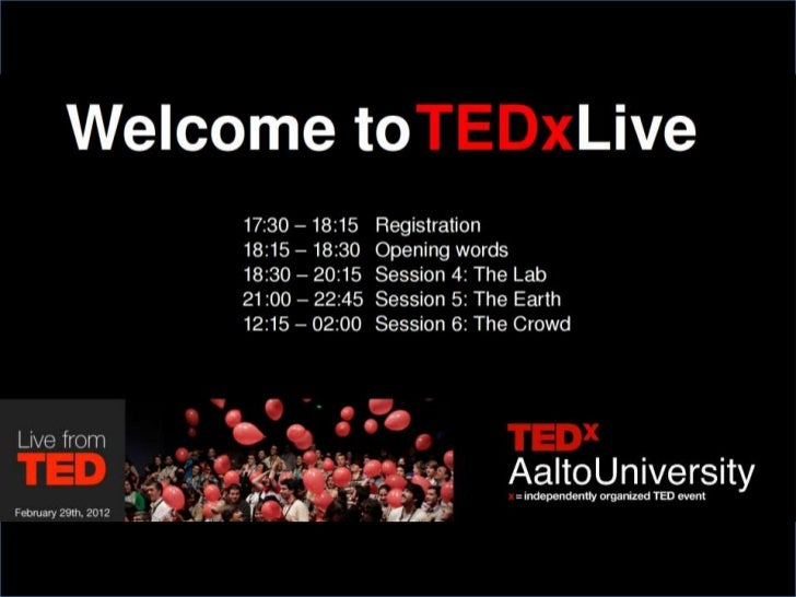 Welcome to TEDxLive!  Greeting from TED curator Chris Anderson