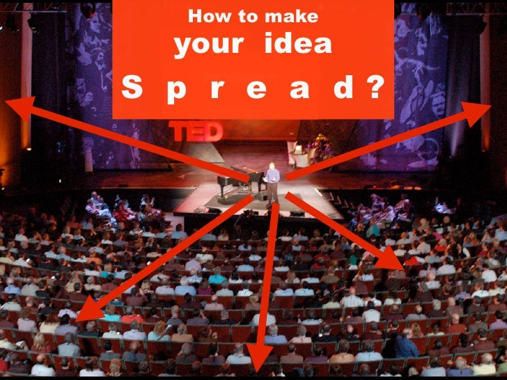 How to make  your ideaS p r e a d?