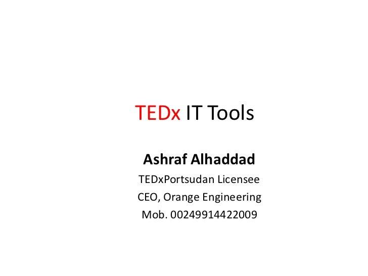 TEDx IT Tools