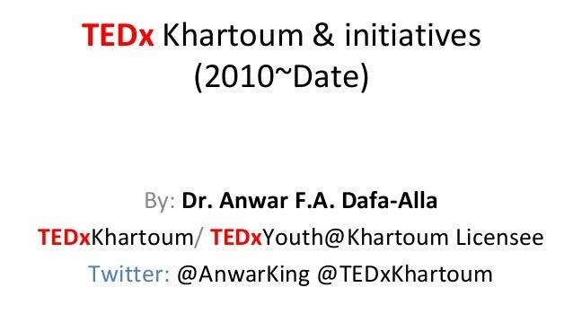 TEDxKhartoum presentation on Sudan: Moving Forward event SAPA 30-11-2013