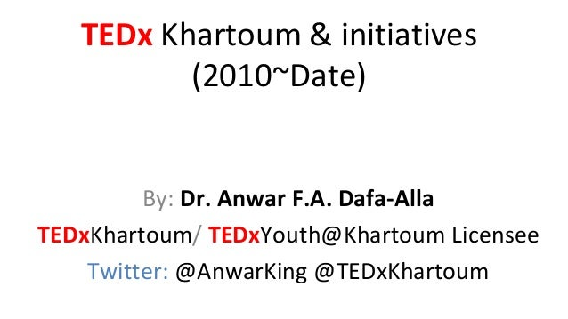 TEDxKhartoum presentation on Sudan: Moving Forward event SAPA 30-11-2013