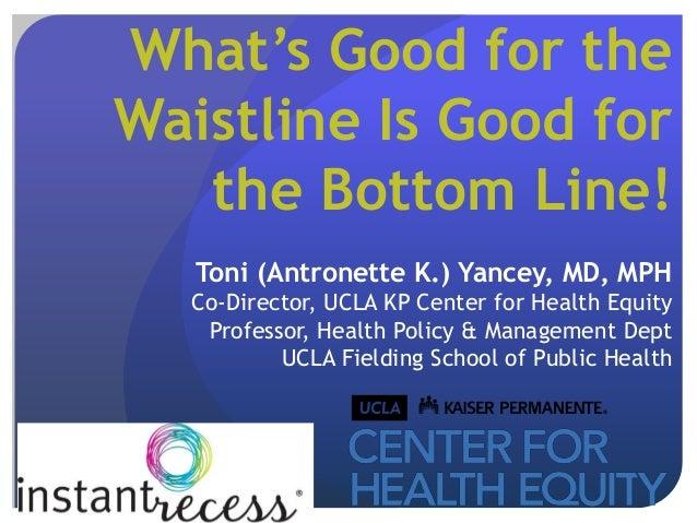 Toni Yancey: Instant Recess