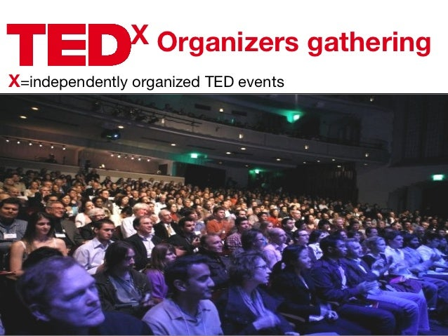 X Organizers gatheringX=independently organized TED events