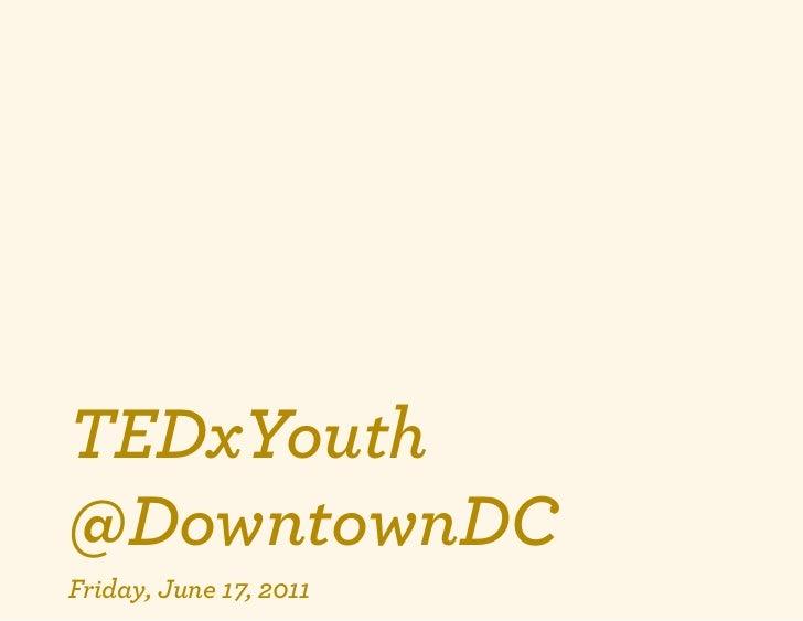 TEDxYouth@DowntownDC