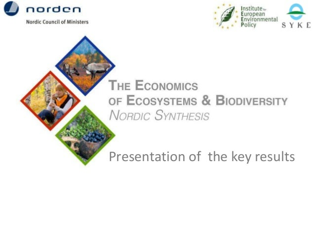 Presentation of the key results