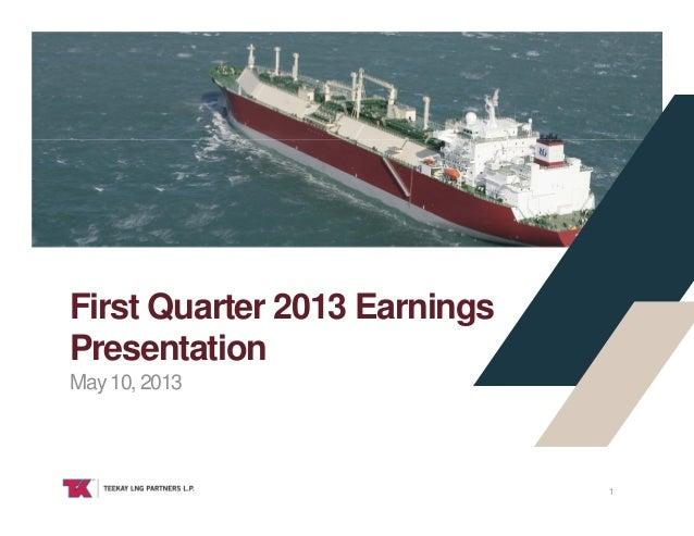 Teekay LNG Partners Q1 2013 presentation