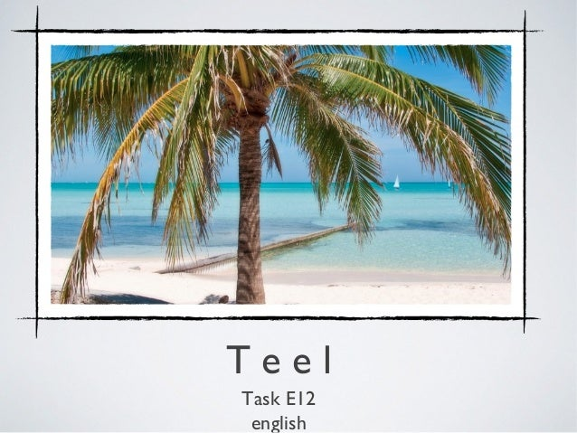 TeelTask E12 english