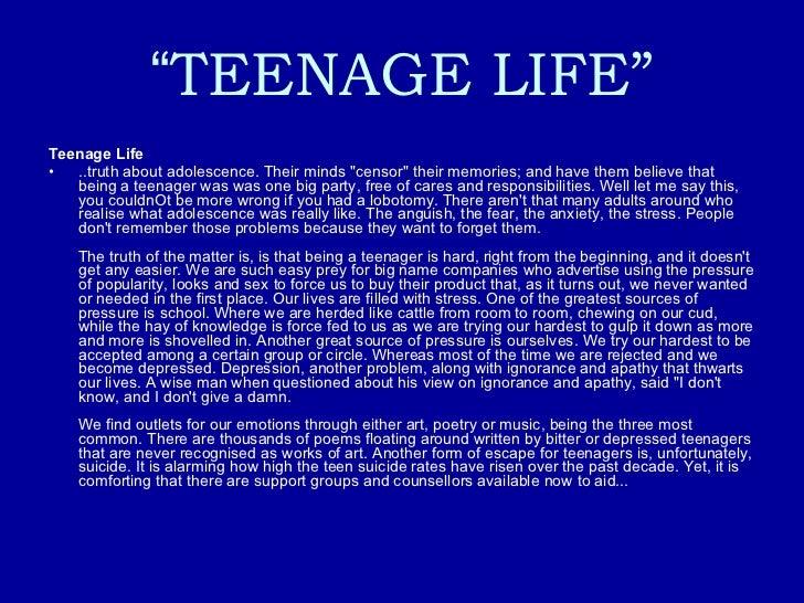 My teenage years essay