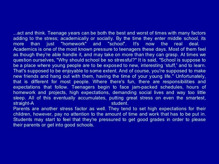 essay about my teenage years