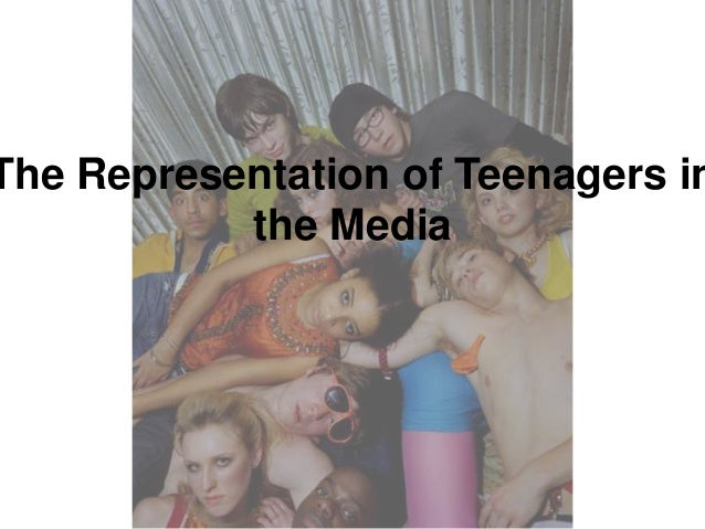 When are teenagers represented positively in the media?