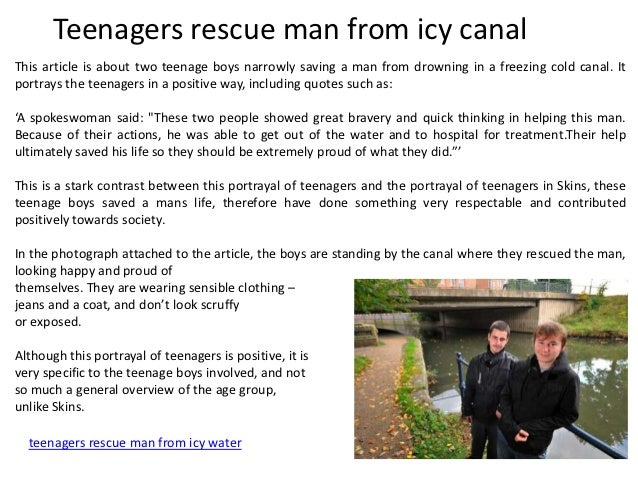 Do you think the media gives teenagers a negative image?
