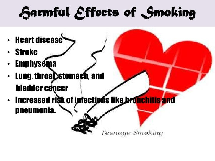 negative effects on teen smoking