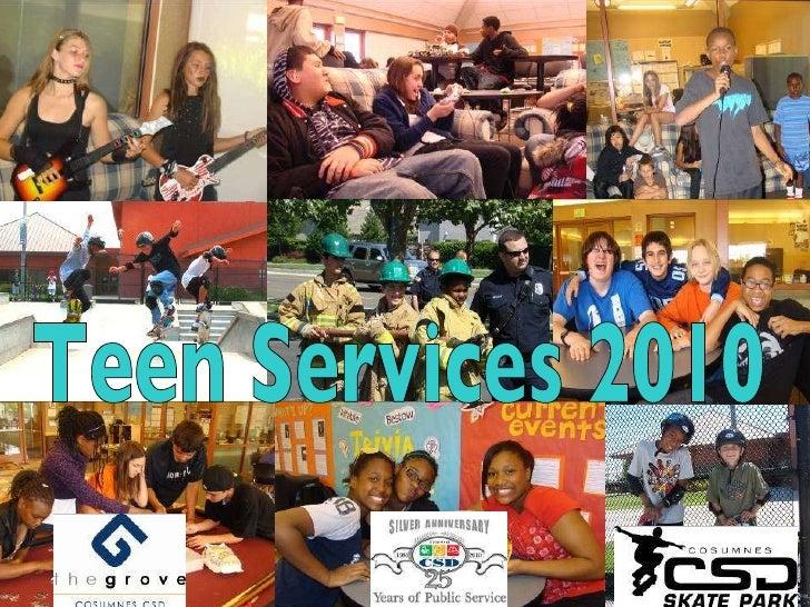 Cosumnes CSD Teen Center Services