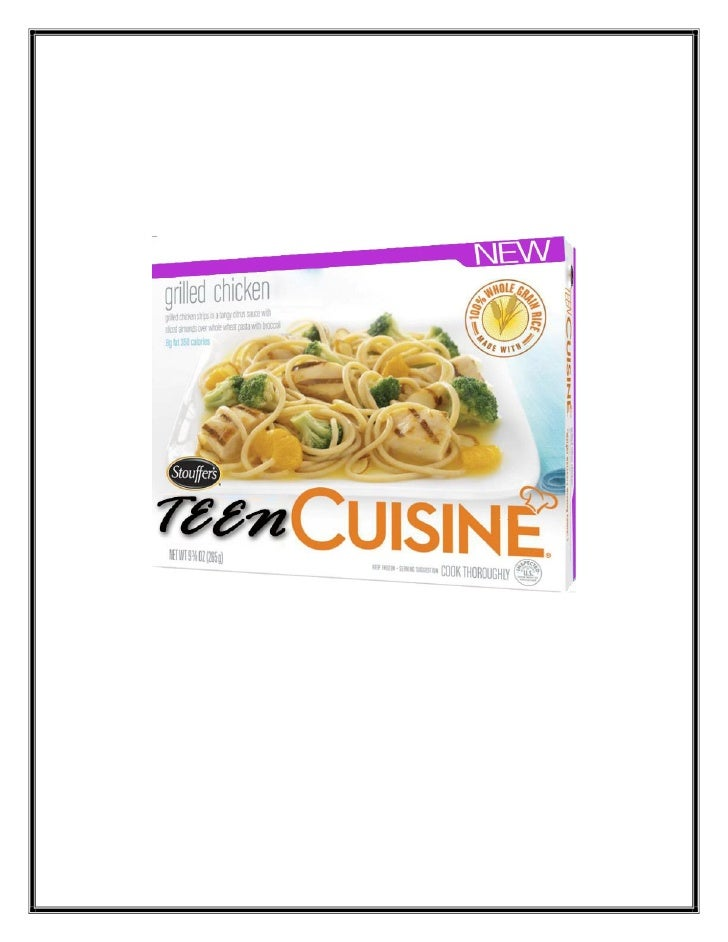 Teen Cuisine Plans Book