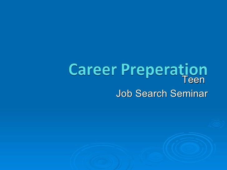 Teen job seminar for website