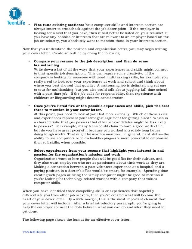 writing a strong cover letter How to write a cover letter 2-3 getting started 2 a strong cover letter: presents your motivations and qualifications for applying for the job.