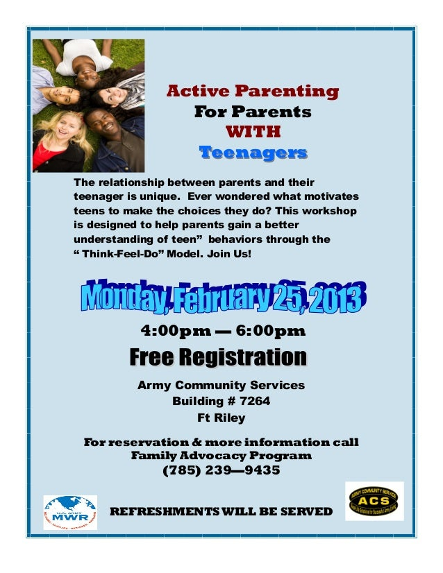 Active Parenting                 For Parents                     WITH                  TeenagersThe relationship between p...