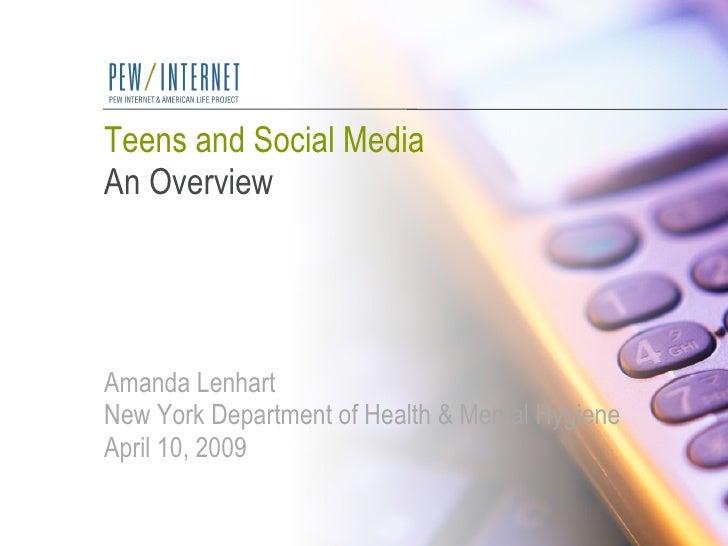 Teens&Social Media Pew