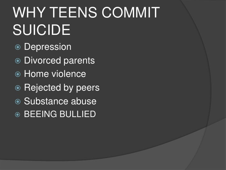 the causes of teen suicide How common is suicide in children and teens the centers for disease control and prevention reported that in 2014, suicide was the second leading cause of death for.