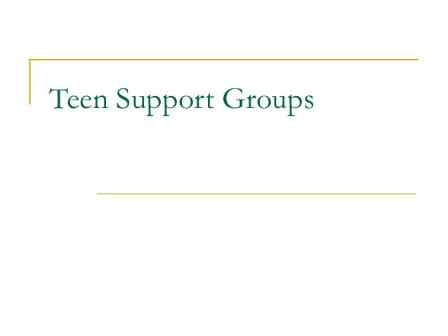 Teen support groups numbers