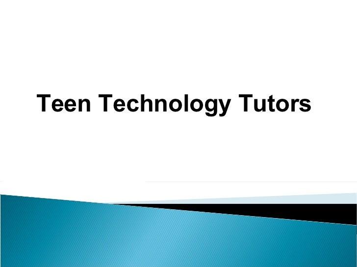 Teen Technology Tutors