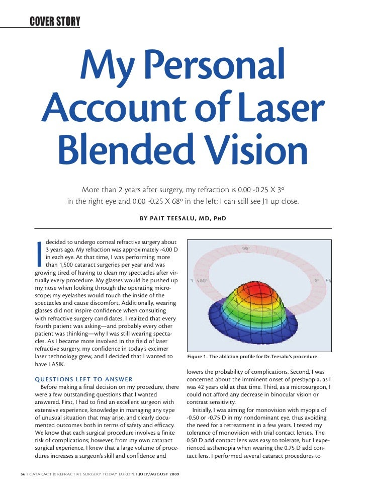 COVER STORY              My Personal         Account of Laser          Blended Vision                         More than 2 ...